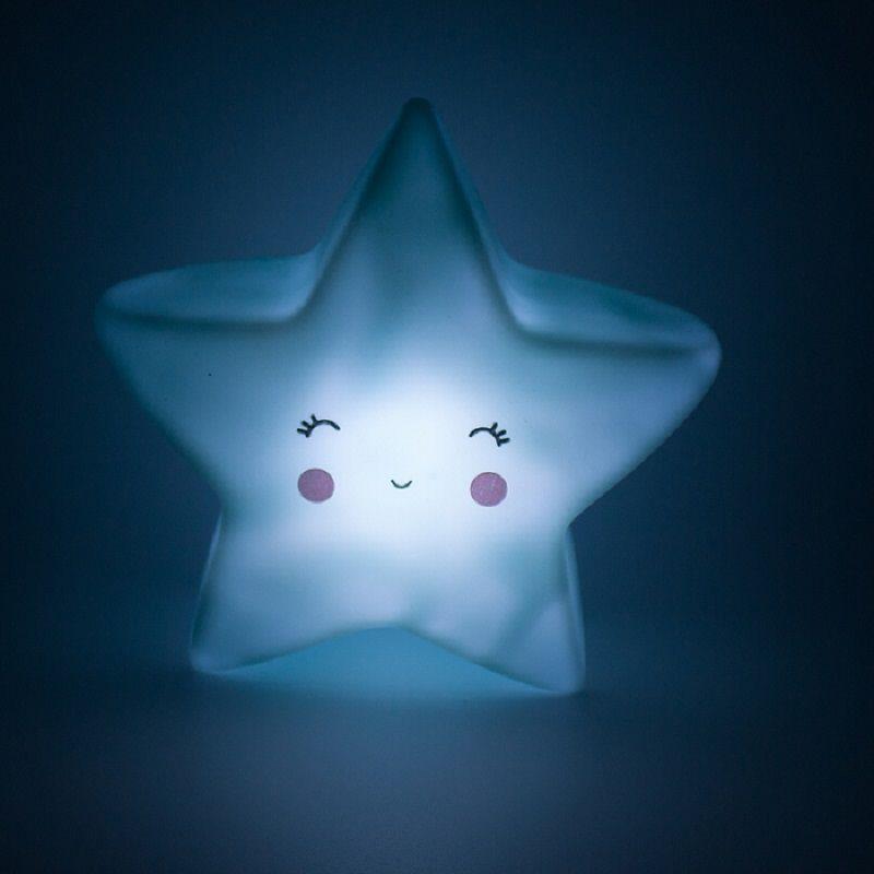 Mini Luminária Estrela Azul de Led   - Shop Ud