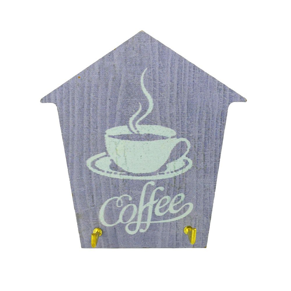 Mini Porta Chaves com 02 Ganchos –Coffee Lilás  - Shop Ud