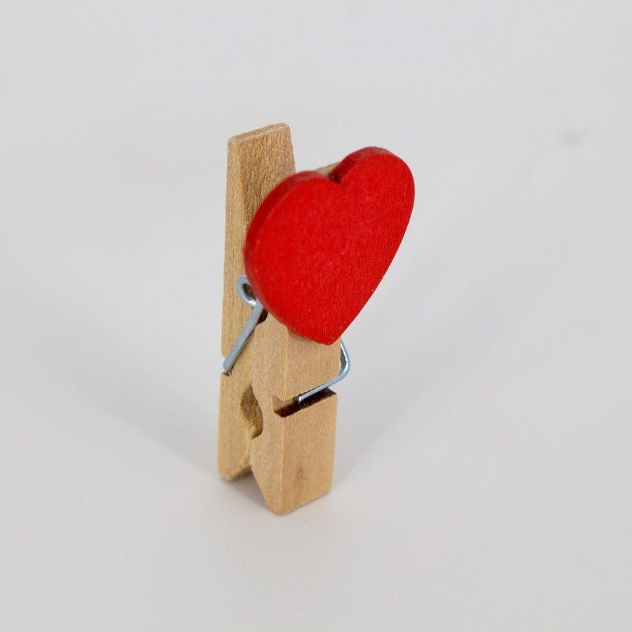 Mini Prendedor de Coração com Corda Kit 10 unidades  - Shop Ud