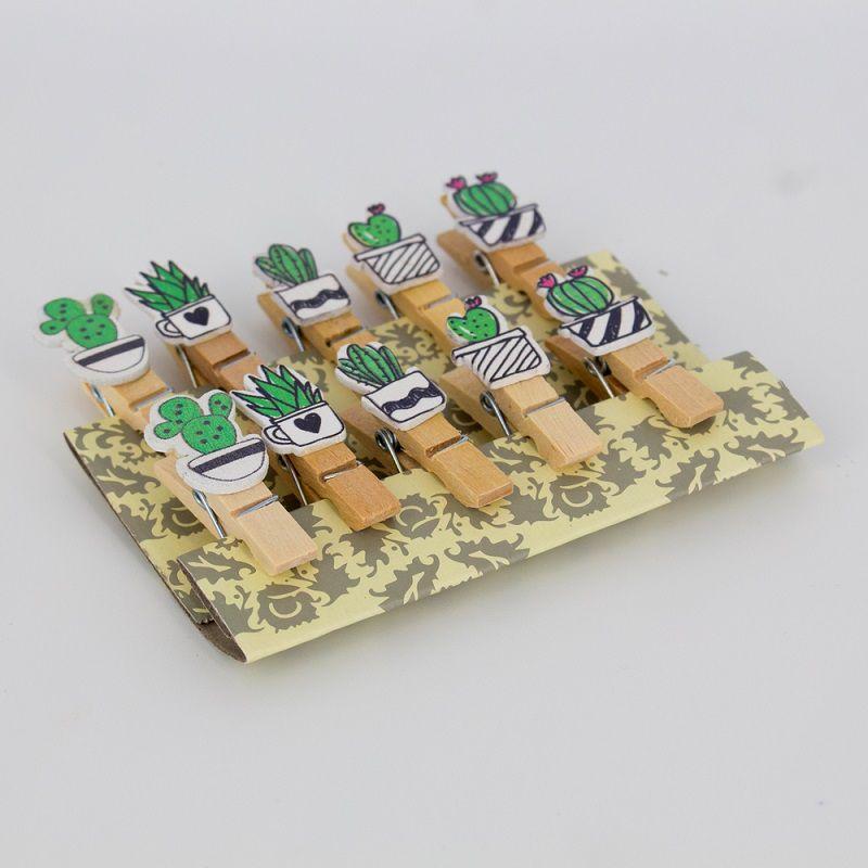 Mini Prendedores Decorados Cactos- kit 10 peças  - Shop Ud