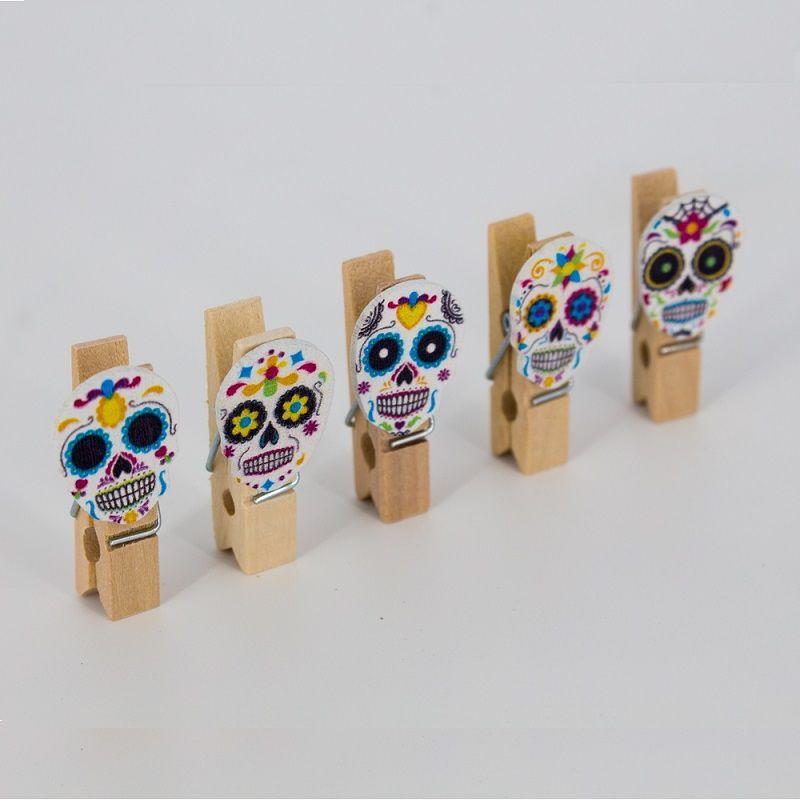 Mini Prendedores Decorados Caveira Mexicana- Kit 10 peças  - Shop Ud