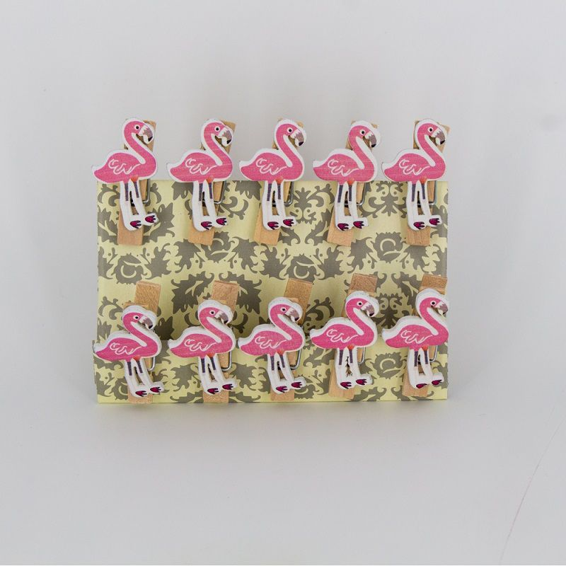 Mini Prendedores Decorados Flamingo- Kit 10 peças  - Shop Ud
