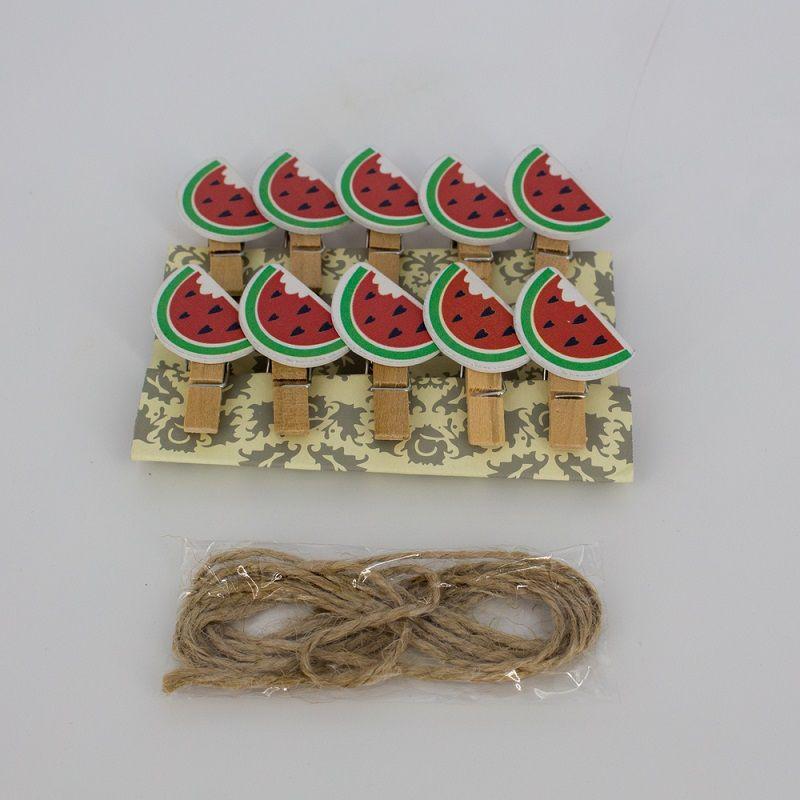 Mini Prendedores Decorados Melancia- kit com 10 peças  - Shop Ud