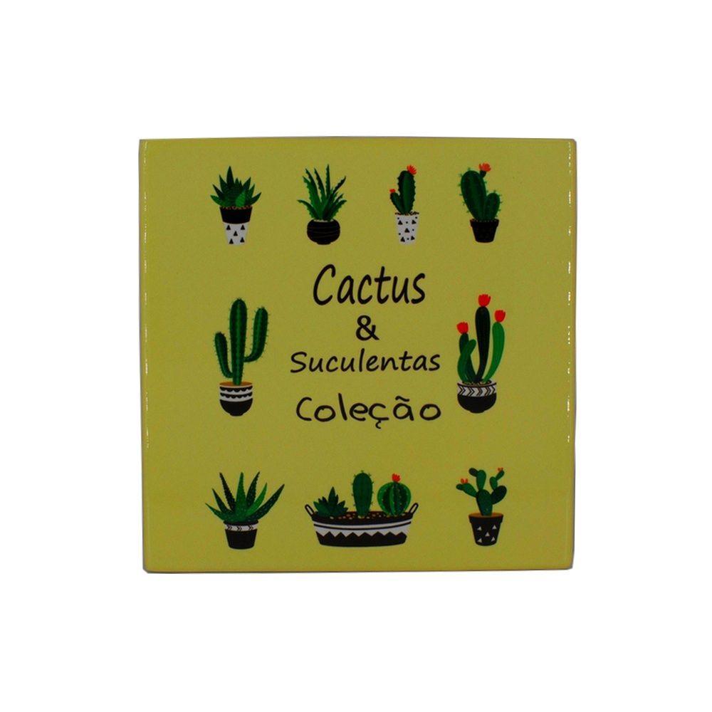 Mini Quadro Decorativo – Cactos e Suculentas  - Shop Ud