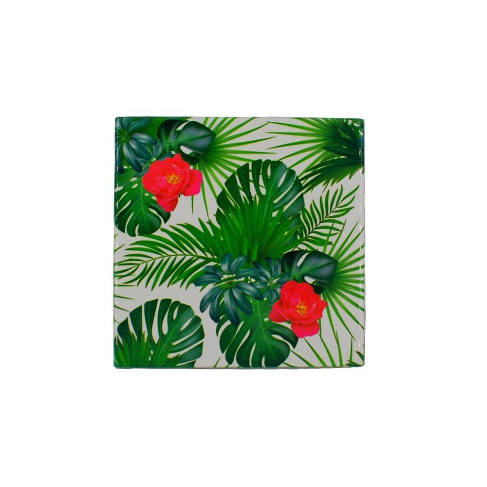 Mini Quadro Decorativo – Folhagem com Flores