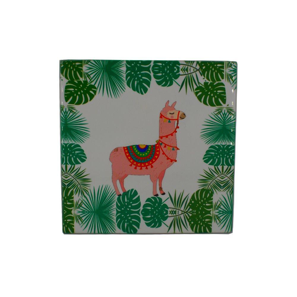 Mini Quadro Decorativo – Ilhama com Folhas  - Shop Ud