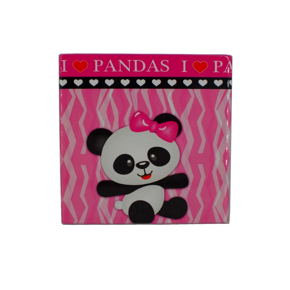 Mini Quadro Decorativo – Panda (Fundo Rosa) - Shop Ud