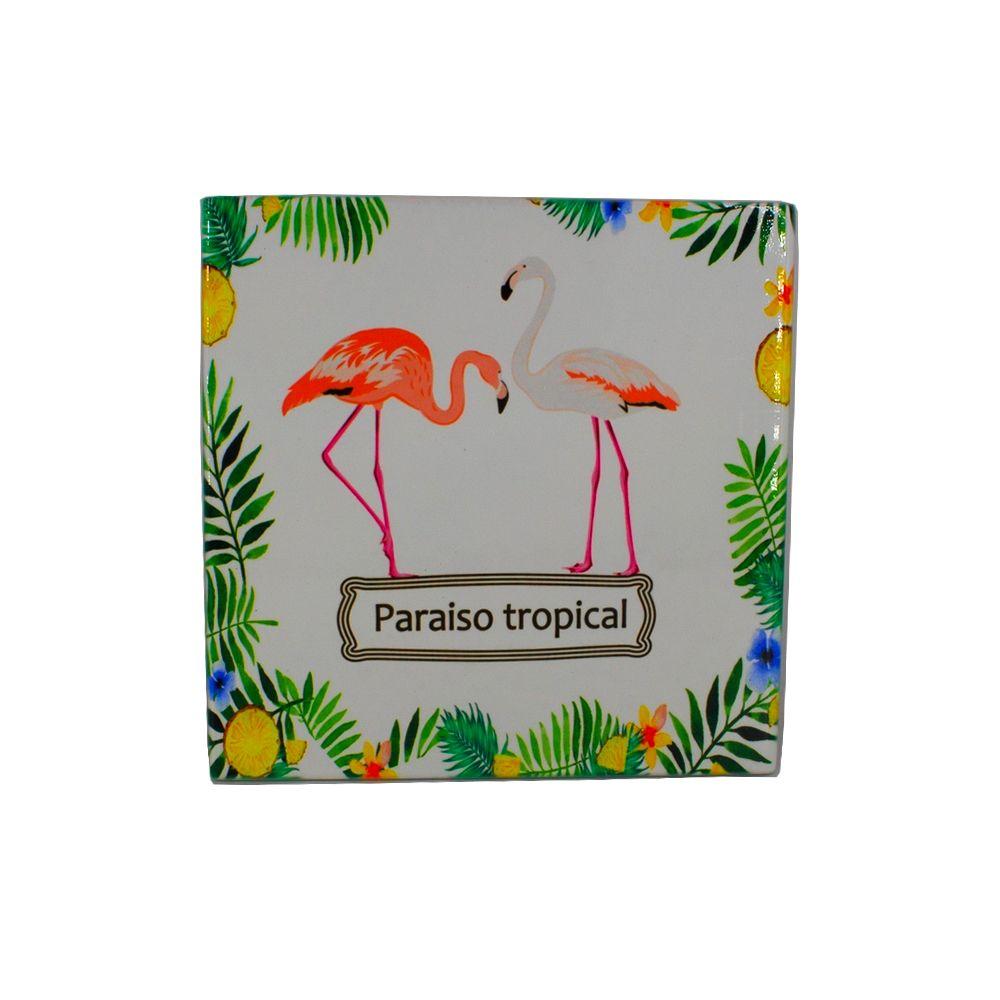 Mini Quadro Decorativo – Paraiso Tropical Flamingo  - Shop Ud