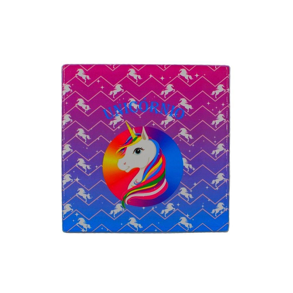 Mini Quadro Decorativo – Unicórnio Colorido
