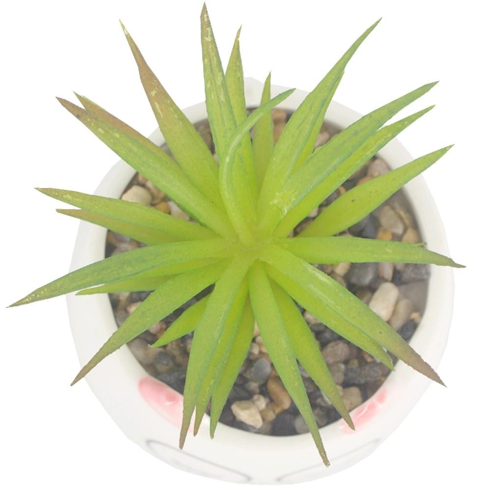 Mini Vaso com Planta Artificial - Gatinha com Óculos  - Shop Ud
