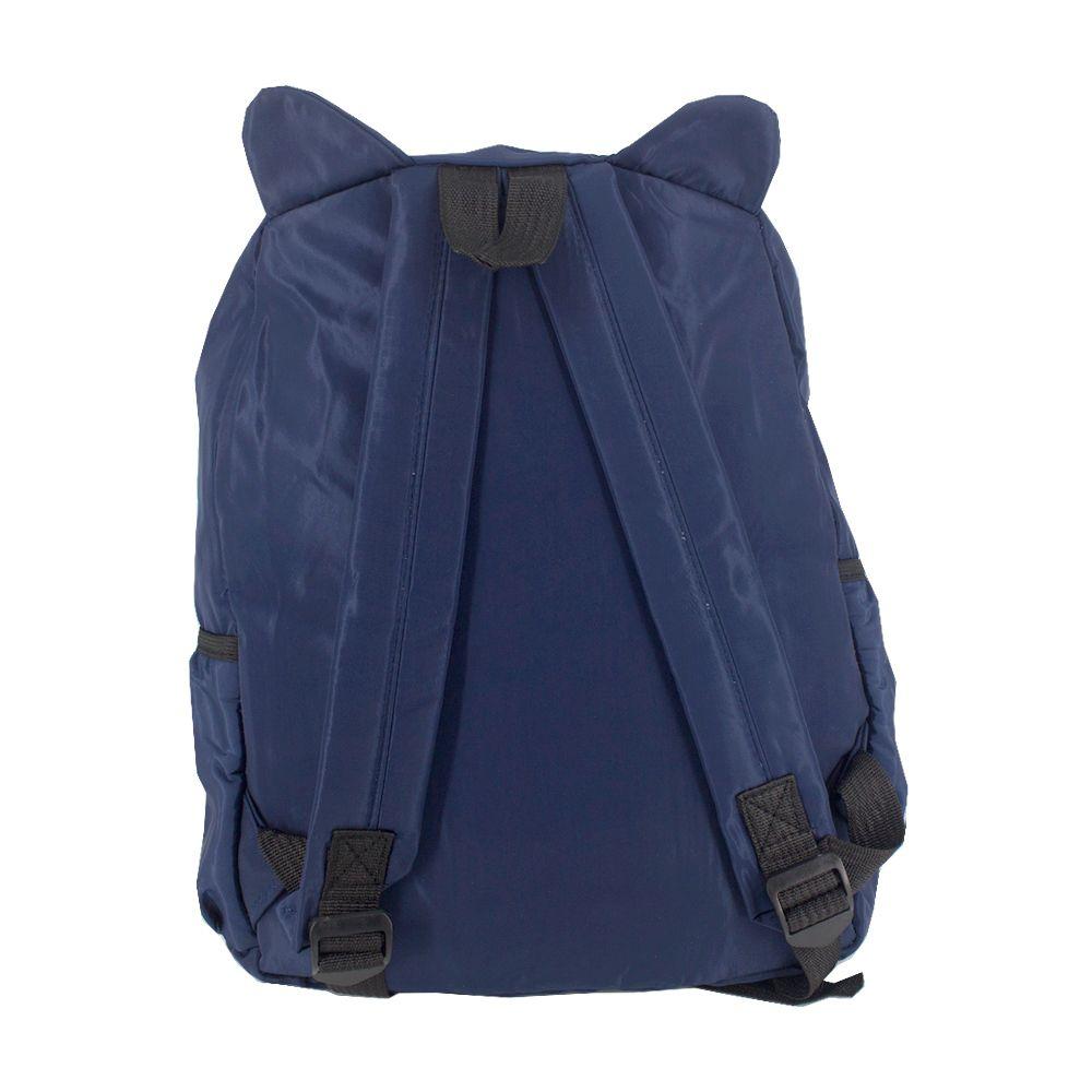 Mochila Orelhinha de Gato Azul Marinho Cat Patinha  - Shop Ud
