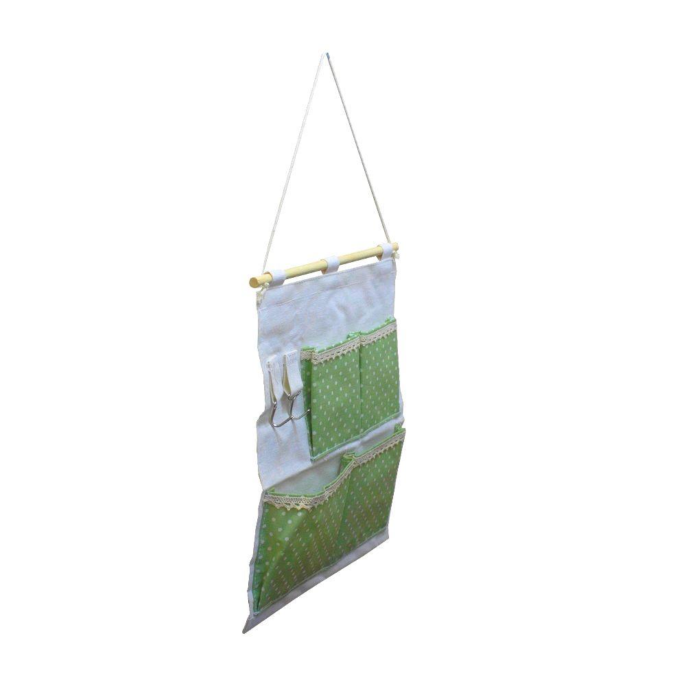 Moldura Organizadora Verde com Bolinha Branca- 4 nichos  - Shop Ud