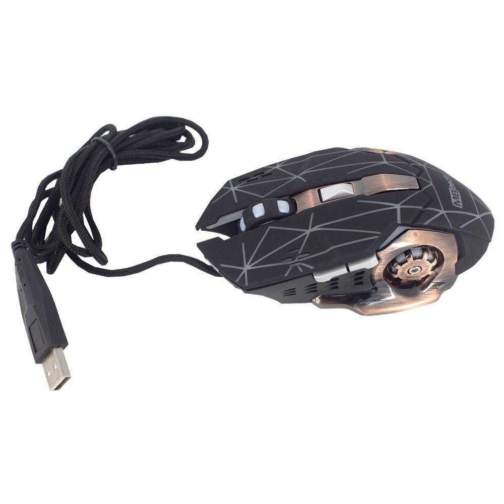 Mouse Gamer Cabo USB Óptico com Luzes 3600 Dpi 6 botões  - Shop Ud