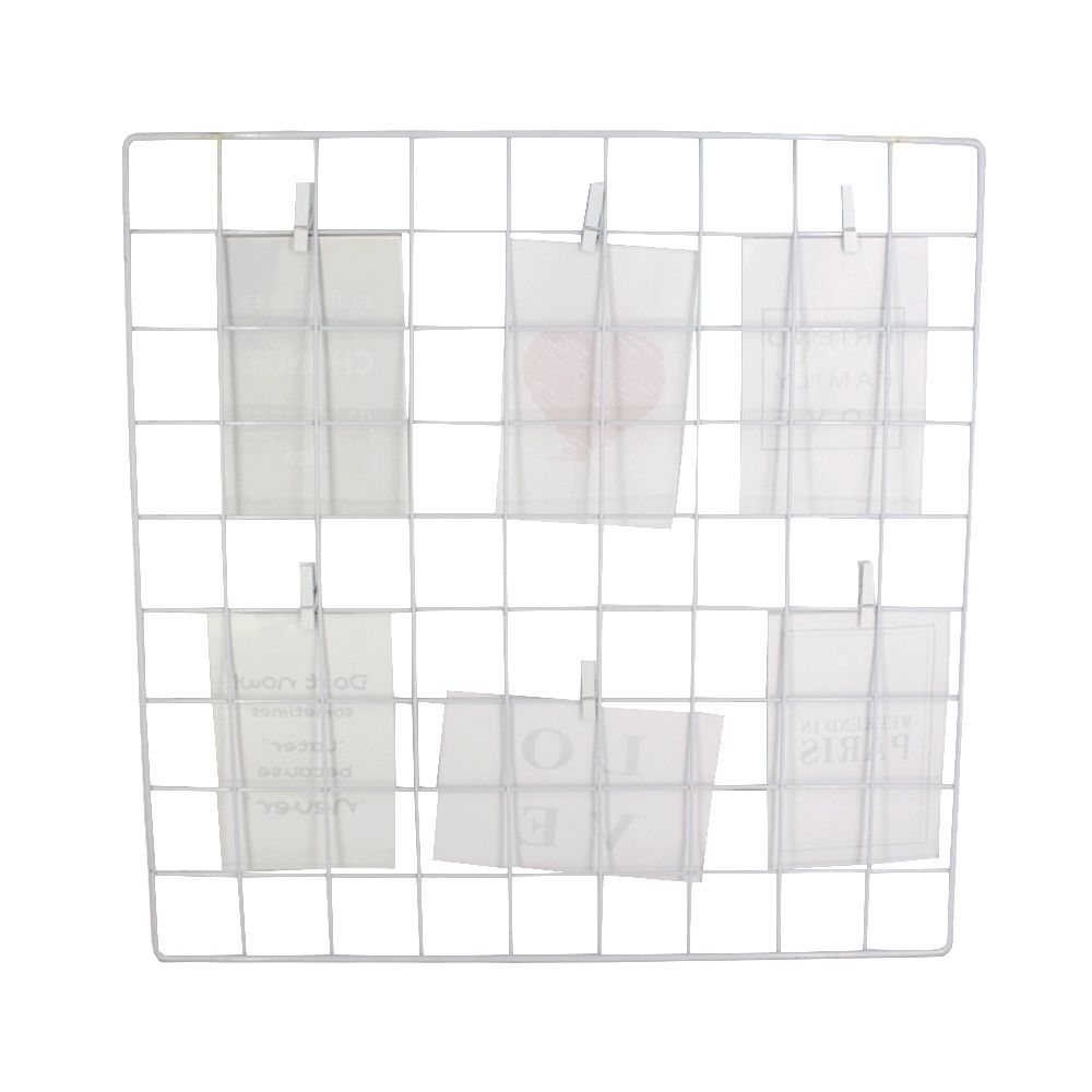 Mural de Grade Para Fotos - Branco (45cm x 45cm)  - Shop Ud