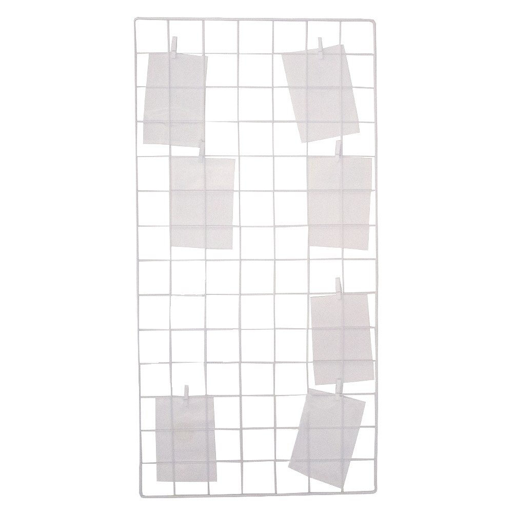 Mural de Grade Para Fotos - Branco (80x40)  - Shop Ud
