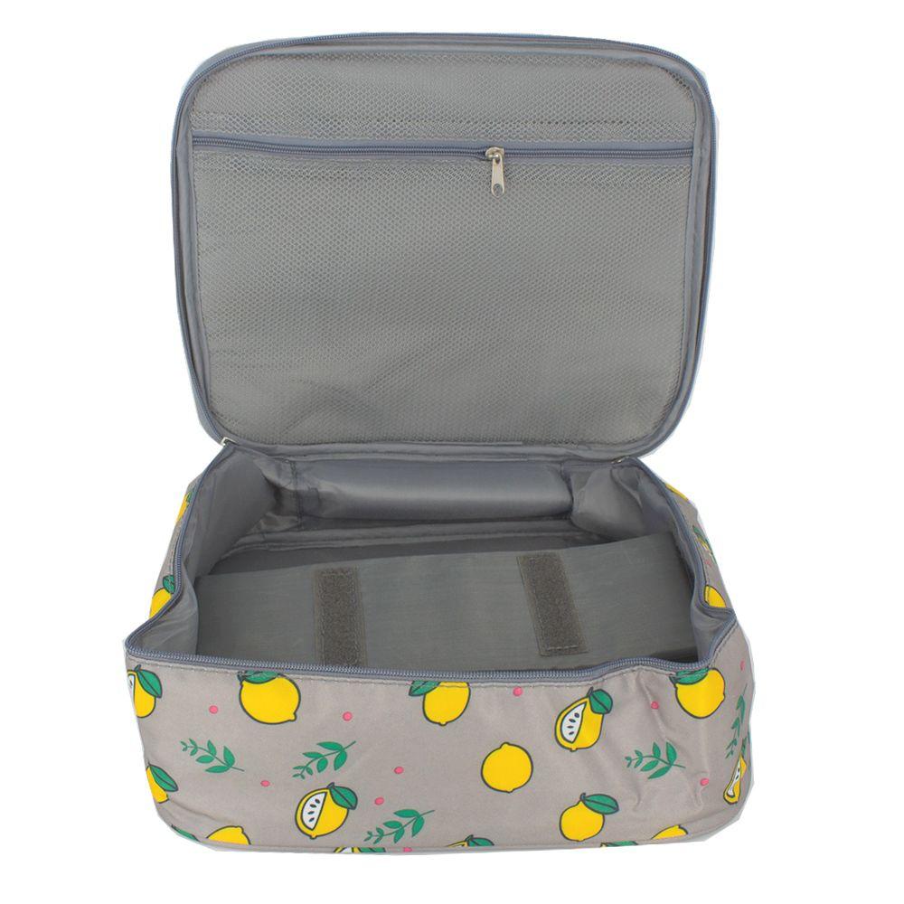 Necessaire de Mão para Viagem - Cinza com Limões  - Shop Ud