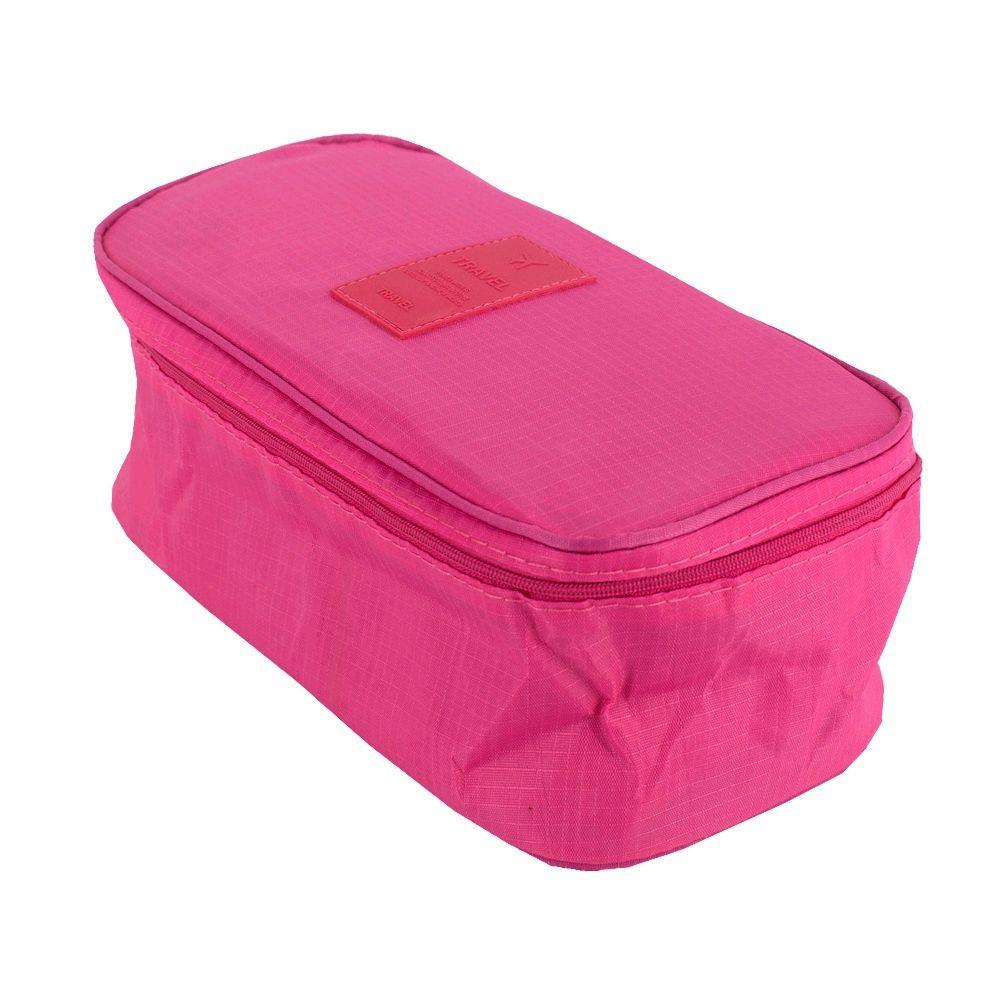 Necessaire de Viagem Organizadora de Calcinhas e Sutiãs Rosa  - Shop Ud