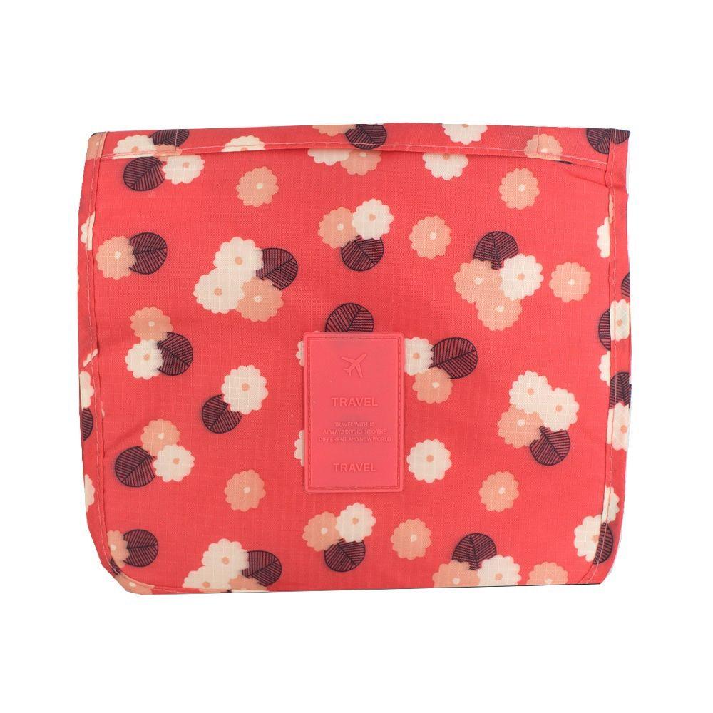 Necessaire Pendurar para Viagem com Gancho Vermelho Flor  - Shop Ud