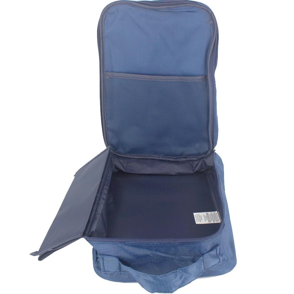 Necessaire Portátil para Viagem 03 Divisórias - Azul Marinho  - Shop Ud