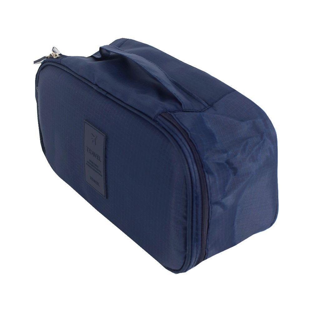 Necessaire Viagem Organizadora Calcinhas Sutiãs Azul Marinho  - Shop Ud