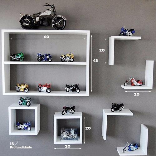 Nichos Decorativos em MDF - Kit 7 peças  - Shop Ud