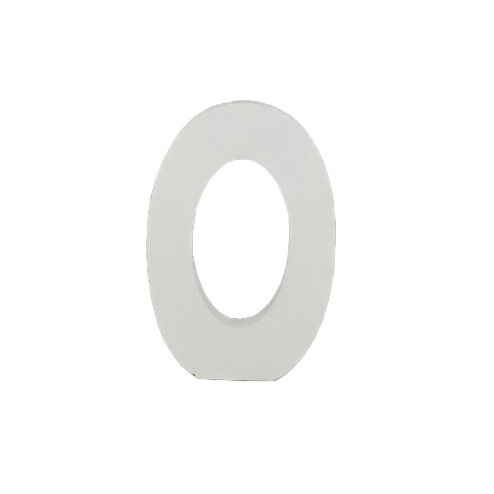 Número Decorativo em MDF – Número 0 (Branca)  - Shop Ud