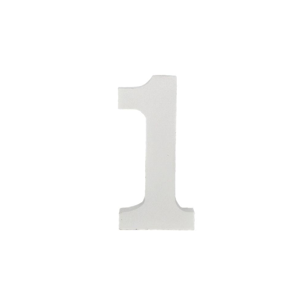 Número Decorativo em MDF – Número 1 (Branca)