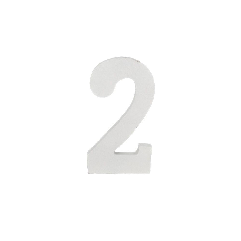 Número Decorativo em MDF – Número 2 (Branca)  - Shop Ud