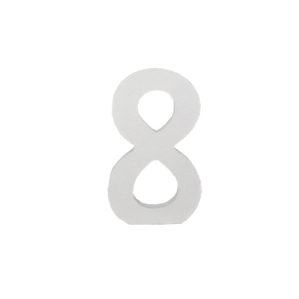 Número Decorativo em MDF – Número 8 (Branca)