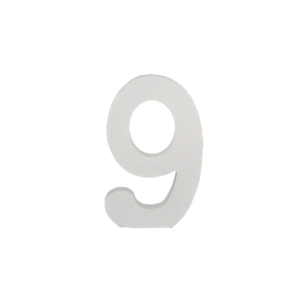 Número Decorativo em MDF – Número 9 (Branca)  - Shop Ud
