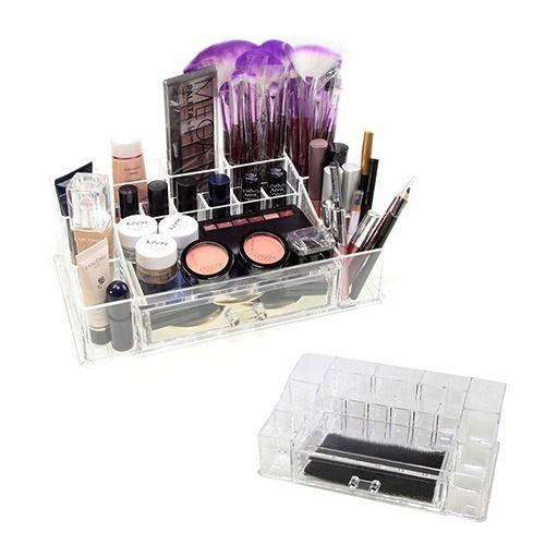 Organizador Acrílico Maquiagem Porta Batom Com Gaveta  - Shop Ud