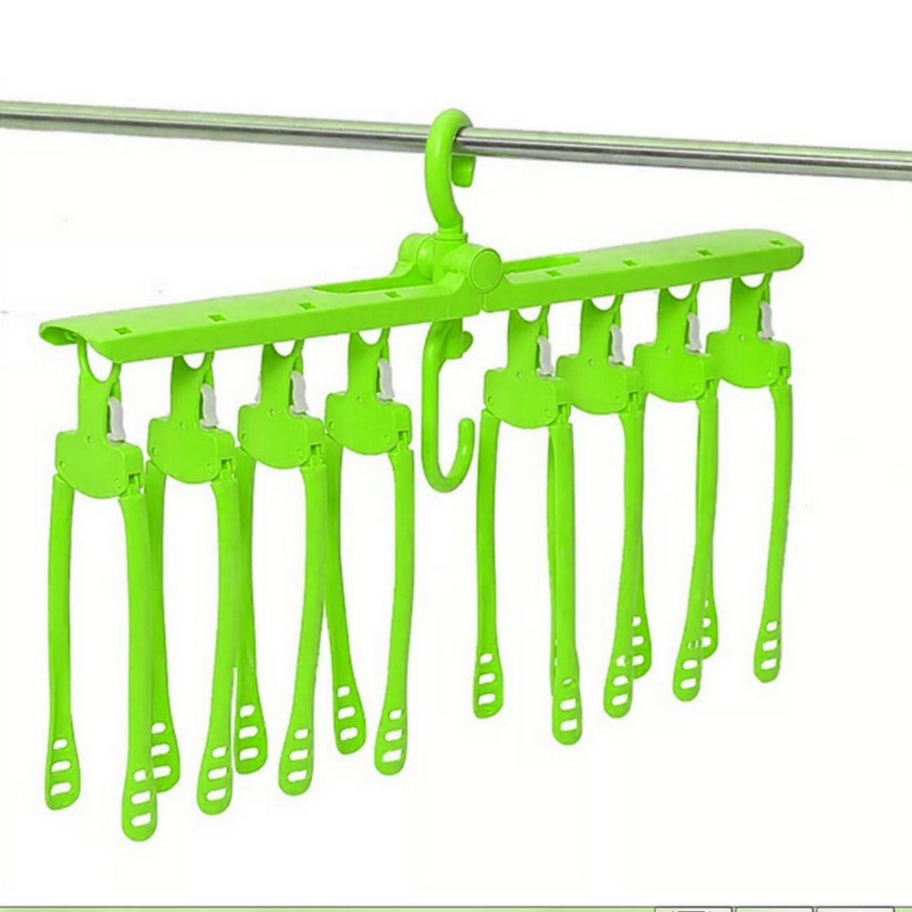 Organizador Cabides Multifuncional 08 cabides - Verde Limão  - Shop Ud
