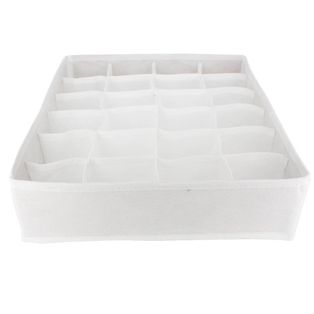 Organizador Calcinhas Cuecas 24 colméias - TNT Branco  - Shop Ud