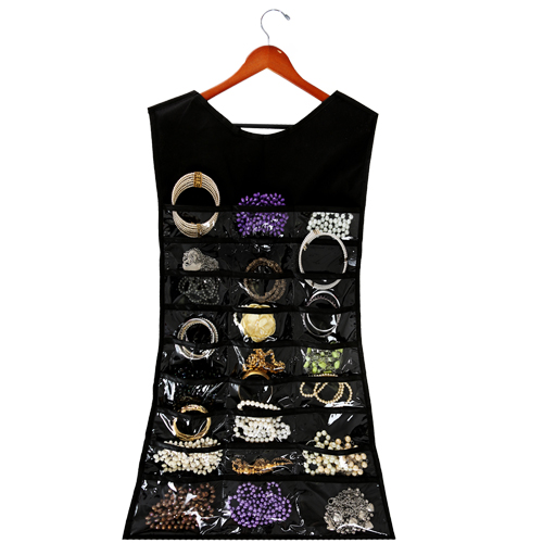 Organizador de Bijuteria Cabide Preto - 60 nichos  - Shop Ud