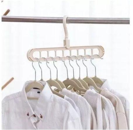 Cabide Organizador com 09 Divisórias - Branco  - Shop Ud