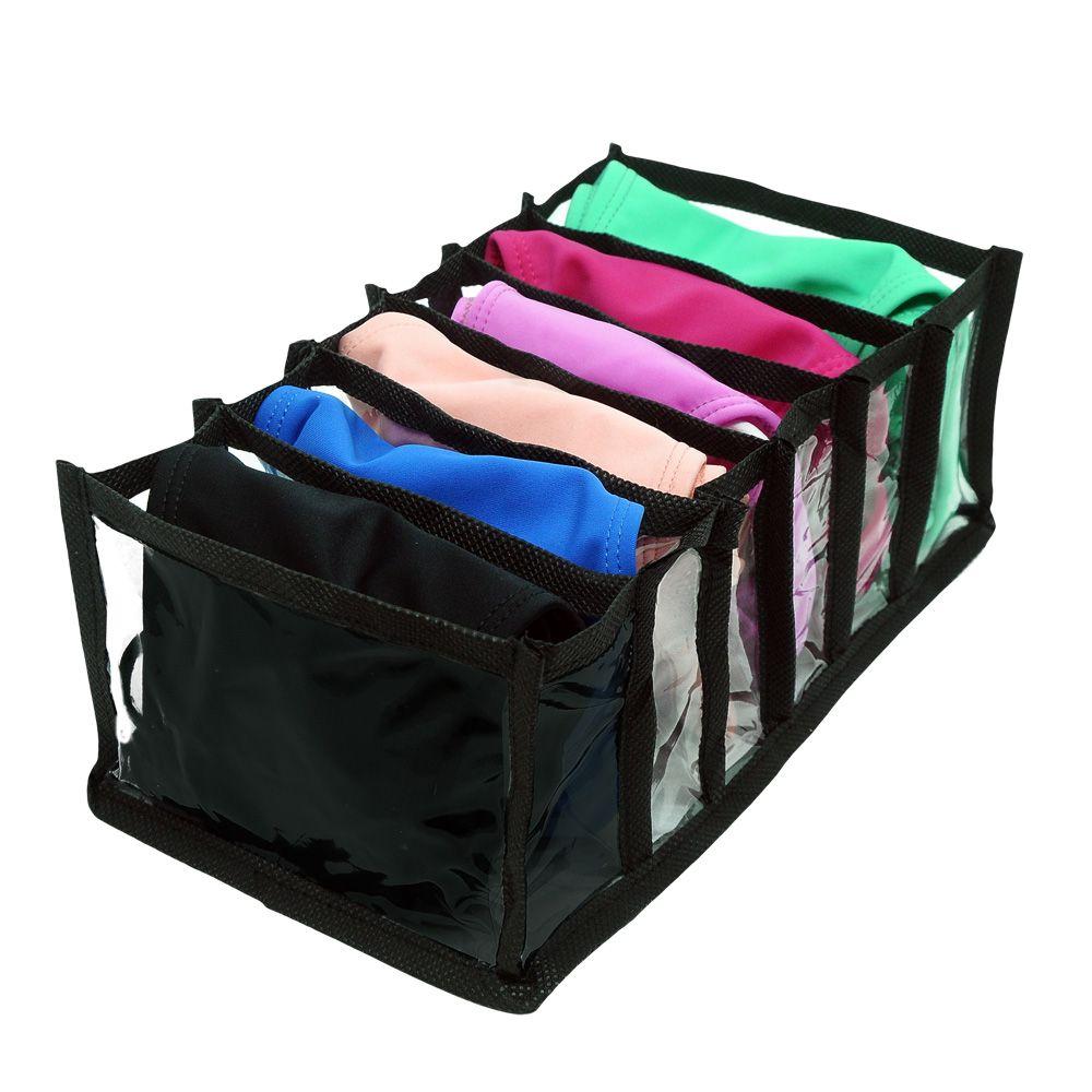 Organizador de Gaveta para Biquínis, Tops, Sungas - PVC transparente e viés Preto 2 peças  - Shop Ud