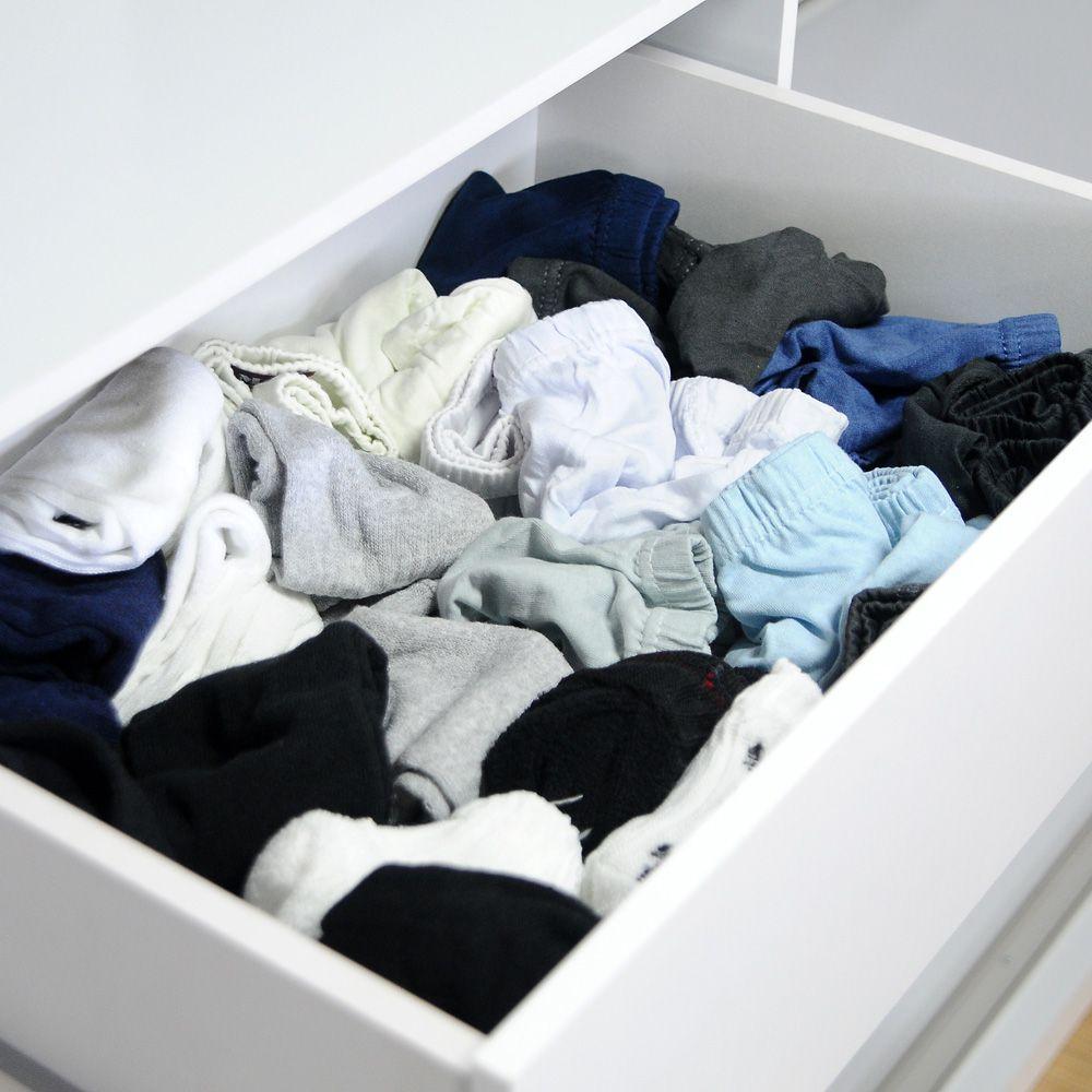 Organizador de Gavetas (calcinhas, meias, cuecas) Transparente  - Shop Ud