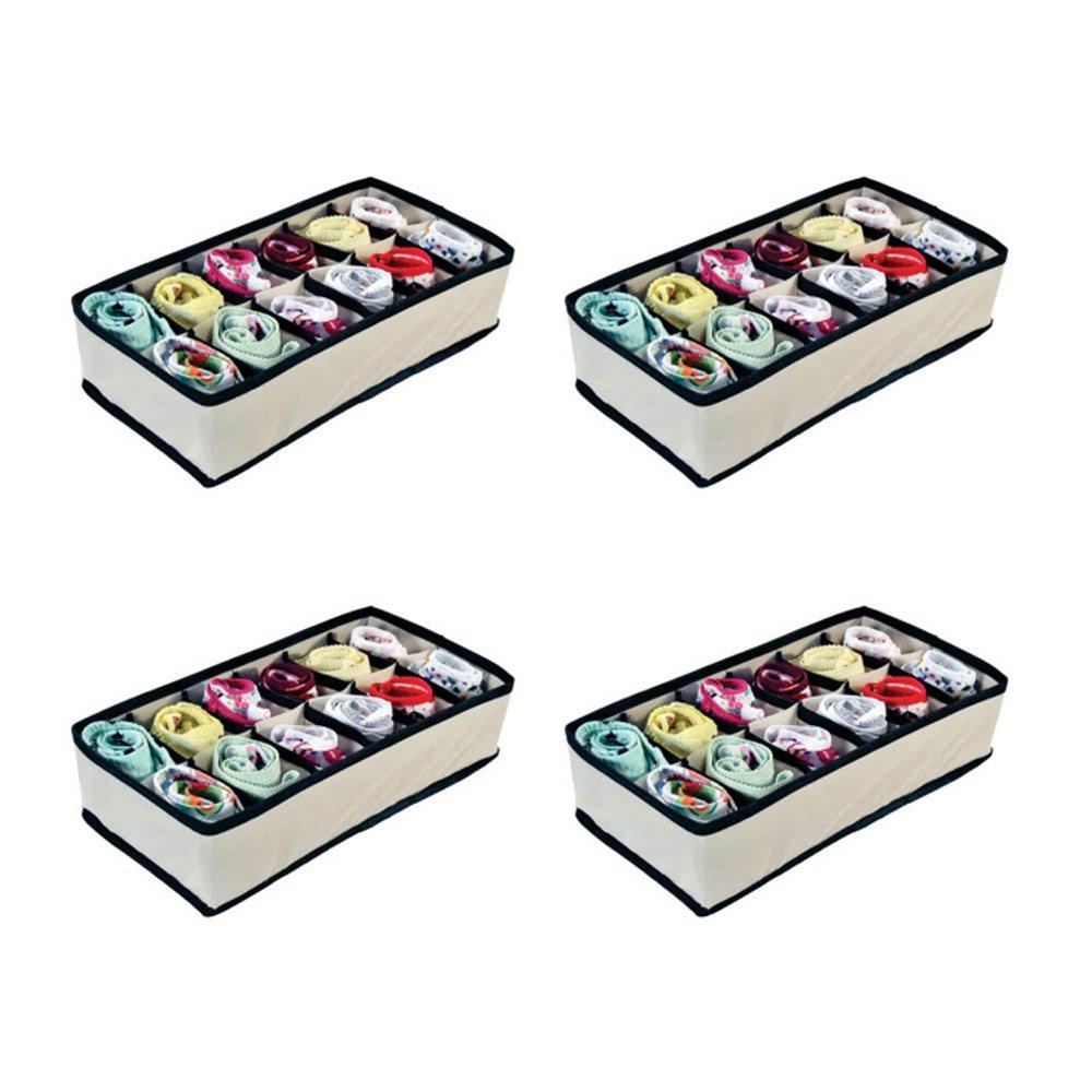 Organizador de Gavetas com 12 Nichos(calcinhas, sutiãs, meias) - 4 unidades