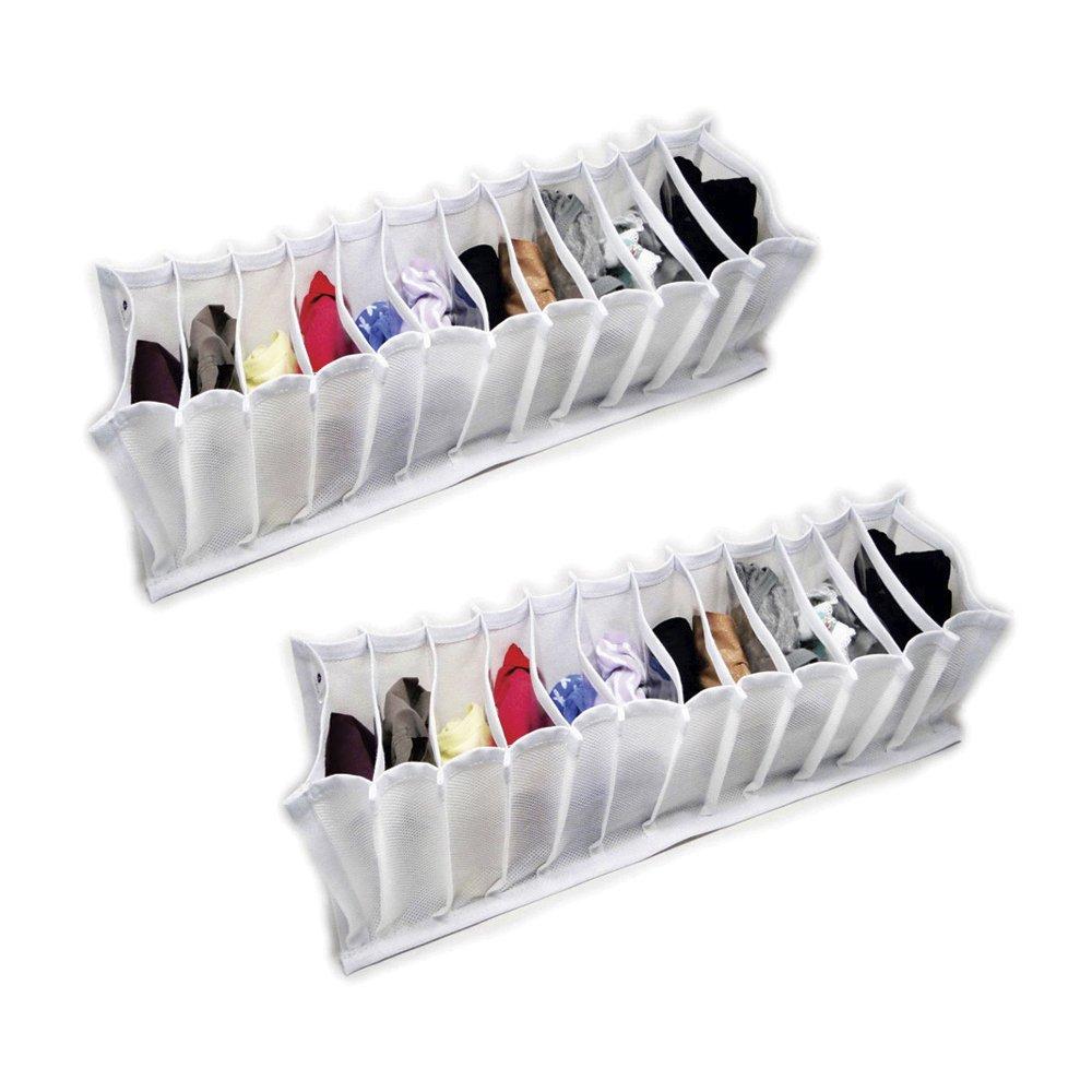 Organizador de Gavetas (calcinhas, cuecas, meias) em TNT Branco kit com 2 peças