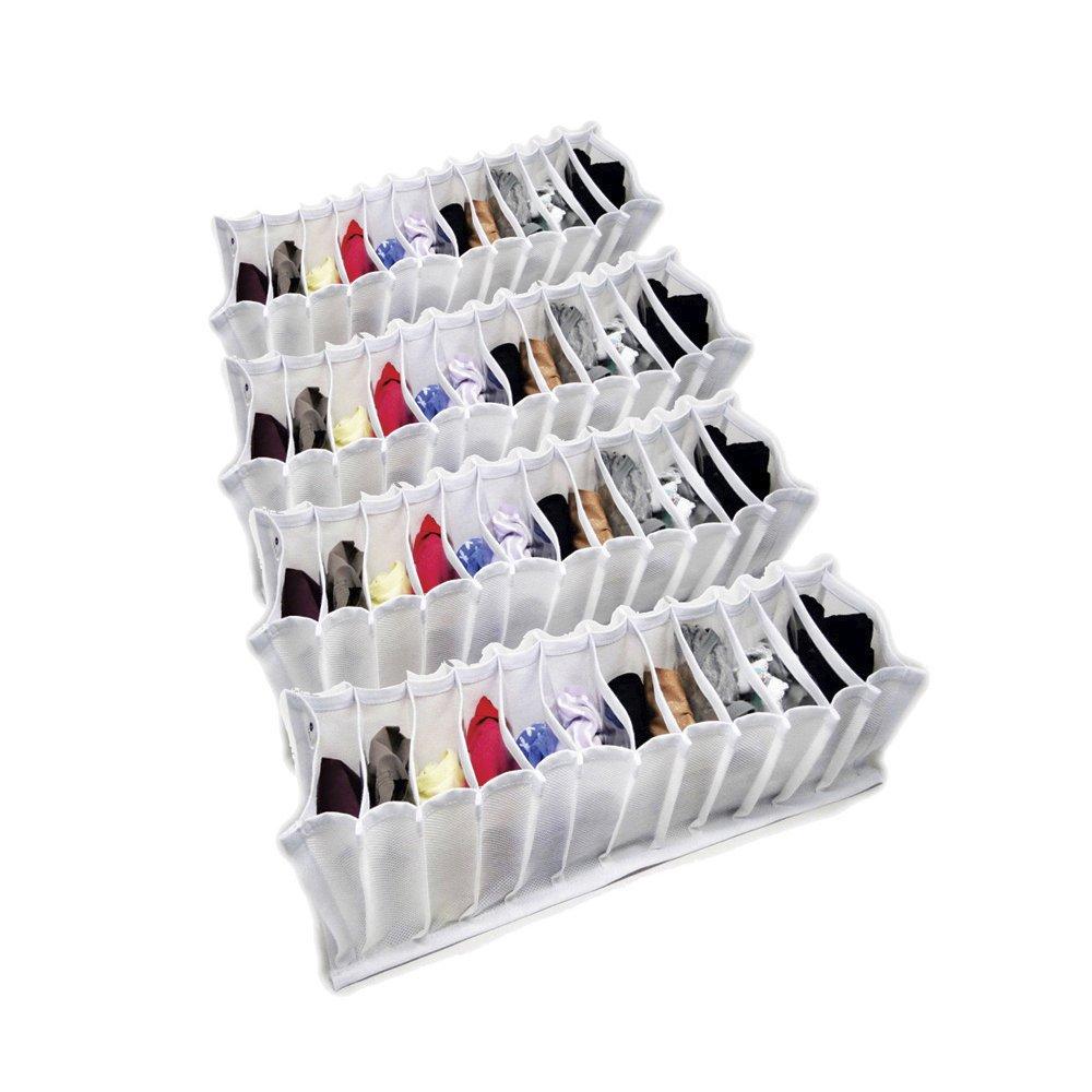 Organizador de Gavetas (calcinhas, meias, cuecas) em TNT Branco kit com 4 peças