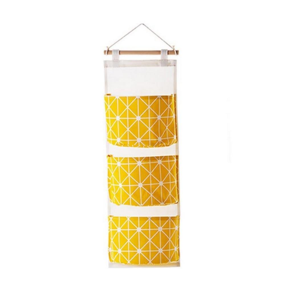 Organizador de Parede com 03 Nichos - Amarelo  - Shop Ud