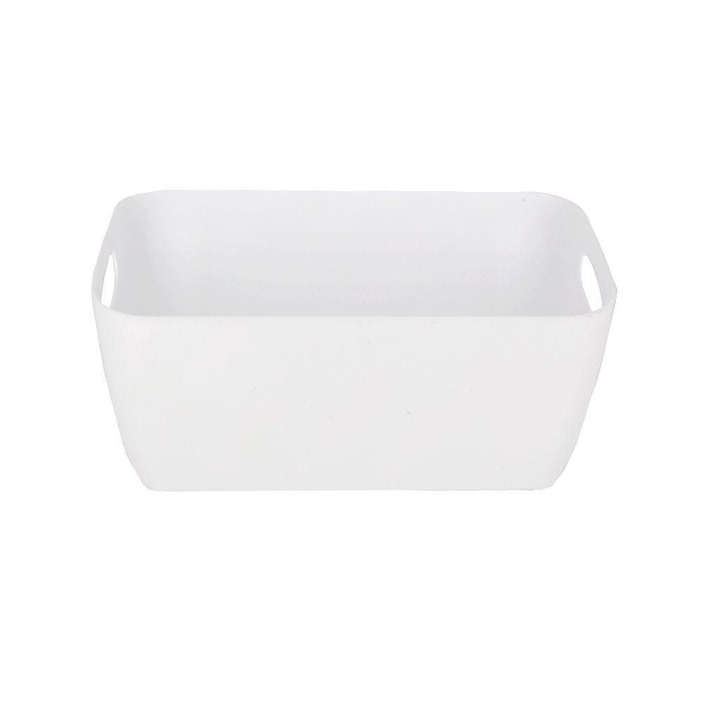 Organizador de Plástico Multiuso - 20cm x 10,5cm x 9cm - Branco