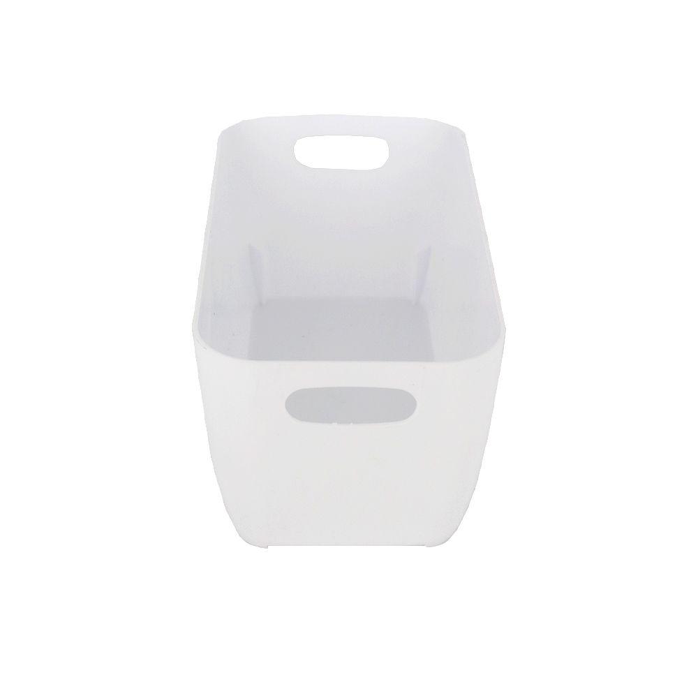 Organizador de Plástico Multiuso - 20cm x 10,5cm x 9cm - Branco  - Shop Ud