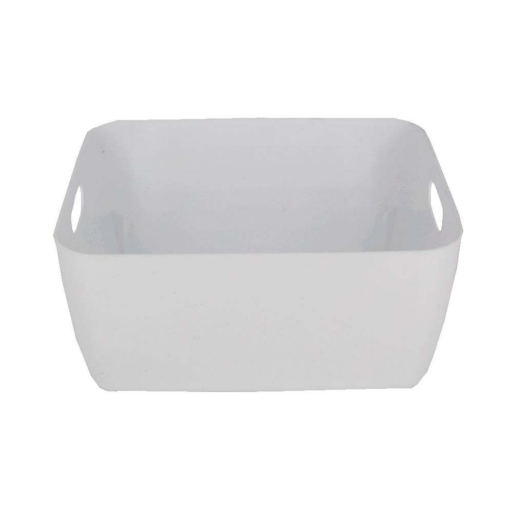 Organizador de Plástico Multiuso 20cm x 15,5cm x 9cm - Branco