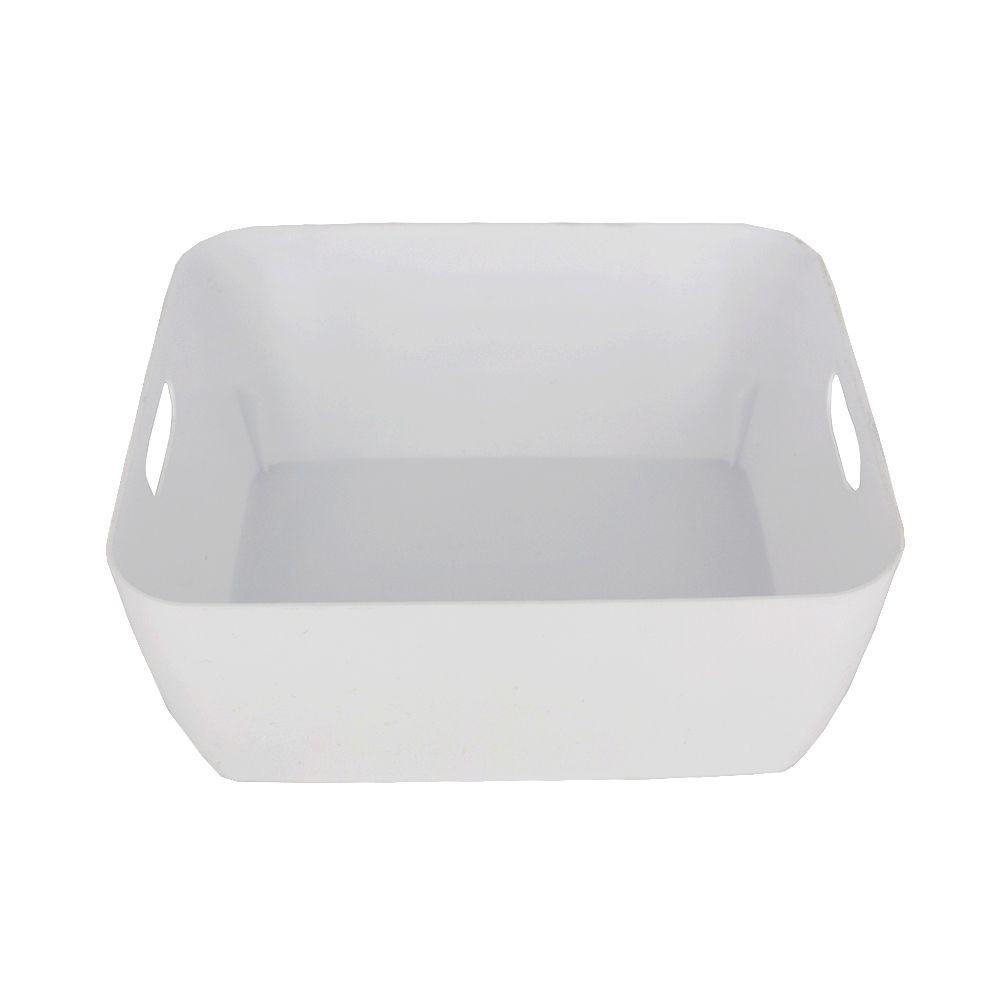 Organizador de Plástico Multiuso 20cm x 15,5cm x 9cm - Branco  - Shop Ud