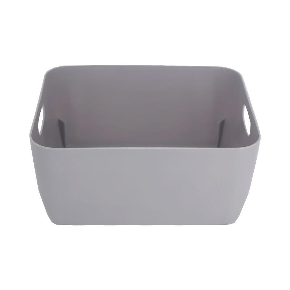 Organizador de Plástico Multiuso - 20cm x 15,5cm x 9cm - Cinza  - Shop Ud