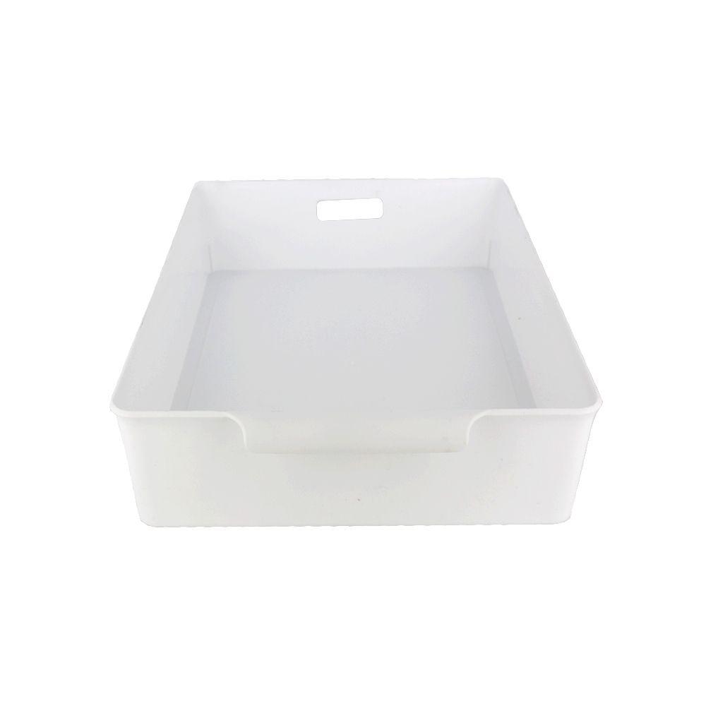 Organizador de Plástico Multiuso - 34cm x 24cm x 7,5cm - Branco  - Shop Ud