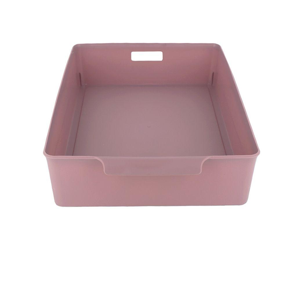Organizador de Plástico Multiuso 34cm x 24cm x 7,5cm - Marsala  - Shop Ud