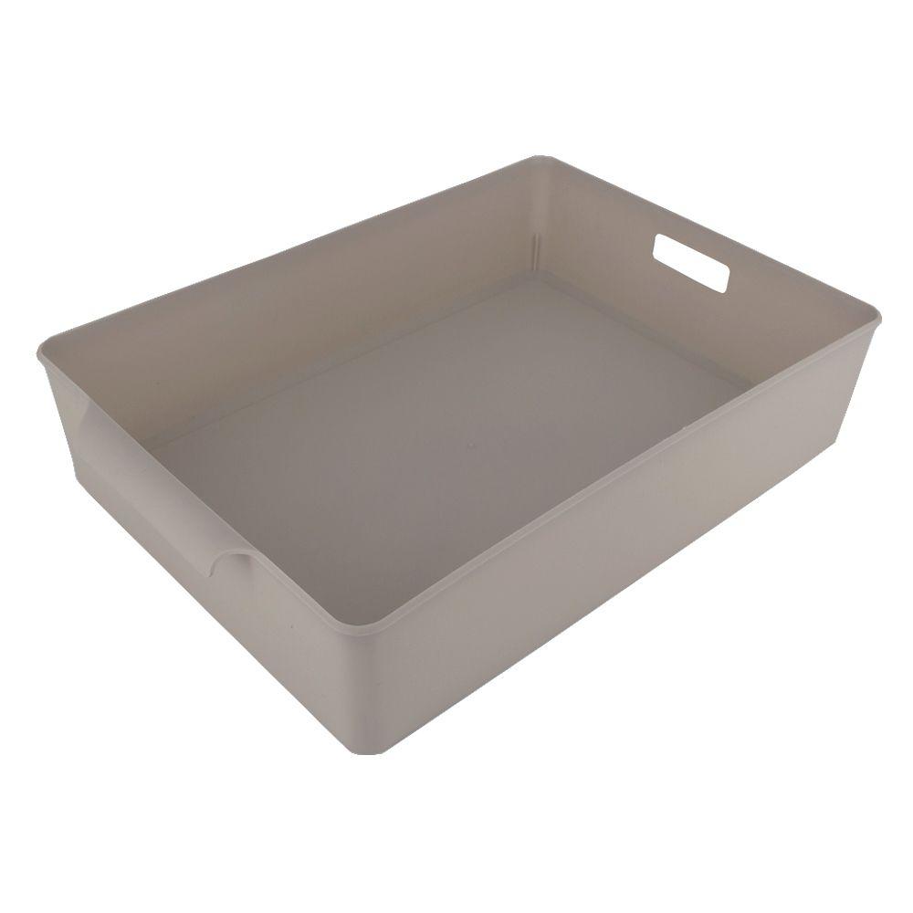Organizador de Plástico Multiuso 34x 23,5 x 7,2 Bege  - Shop Ud