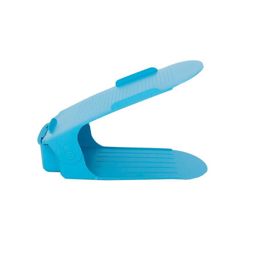 Organizador de Sapato Rack 100 unidades Azul -Regulagem de Altura